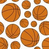 Orange Basketball Ball Seamless Pattern Stock Photo