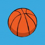 Orange Basketball Comics Background vector illustration