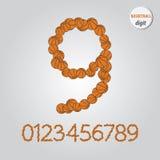 Orange Basketball Digit Vector Royalty Free Stock Photography