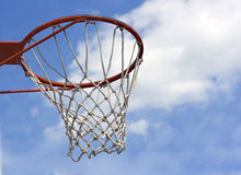 An orange basketball hoop Royalty Free Stock Photo