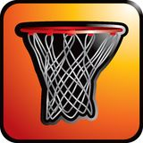 Orange basketball net icon Stock Photography
