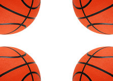 Orange basketballs isolated. On the white  background Stock Photos