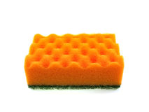 Orange bast for ware washing Stock Photo