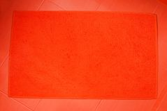 Orange bath mat Royalty Free Stock Photo