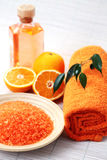 Orange bath salt Stock Image