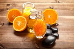 Orange bath salt Stock Images