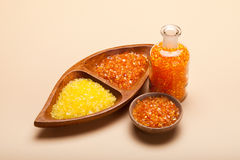 Orange bath salt Stock Image