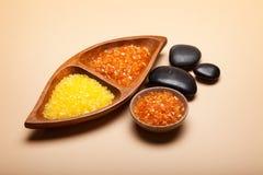 Orange bath salt Stock Photography