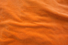 Orange bath towel Royalty Free Stock Photography