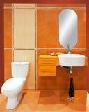 Orange bathroom Stock Photos