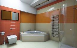 Orange bathroom Royalty Free Stock Photos