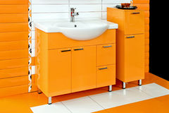 Orange bathroom Royalty Free Stock Photography