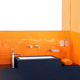 Orange bathroom Stock Photography
