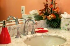 Orange bathroom sink Royalty Free Stock Images
