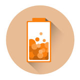 Orange Battery Half Charge Icon Royalty Free Stock Photos