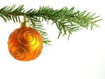 orange baublejul Royaltyfri Bild