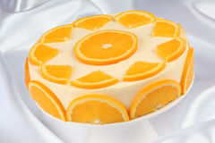 Orange bavarian cream (bavarese) Stock Image