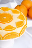 Orange bavarian cream (bavarese) Royalty Free Stock Photo