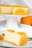 Orange bavarian cream (bavarese) Stock Image