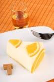 Orange bavarian cream (bavarese) Stock Photo