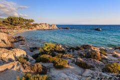 Orange Beach. Chalkidiki, Greece Stock Image