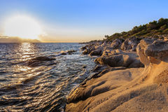 Orange Beach Chalkidiki, Greece Royalty Free Stock Photos