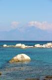 Orange beach, Chalkidiki, Sithonia, Greece Stock Photo