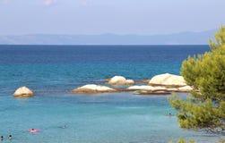 Orange beach, Chalkidiki, Sithonia, Greece Royalty Free Stock Image