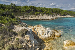 Orange Beach Kavourotripes, Chalkidiki, Sithonia, Central Macedonia Royalty Free Stock Photography