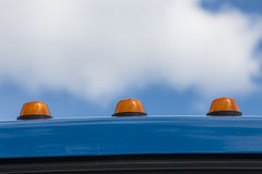 Orange beacon on the car roof Stock Photo