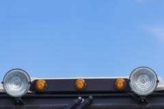 Orange beacon on the car roof Stock Photos