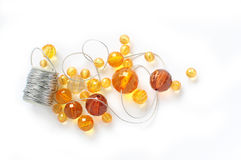 Orange beads Royalty Free Stock Photo