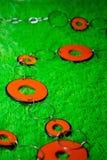 Orange beads Royalty Free Stock Photos