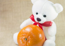 Orange  with the bear Royalty Free Stock Photo