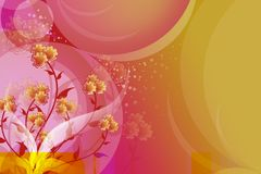 orange beautiful flowers, abstract background Stock Images