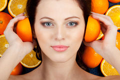 Orange beauty Stock Image