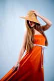 Orange beauty Stock Images