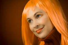 Orange beauty portrait Royalty Free Stock Photos