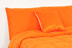 Orange bedding. Royalty Free Stock Photos