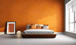 Orange bedroom Stock Image
