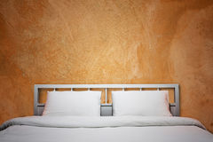 Orange bedroom Royalty Free Stock Photos