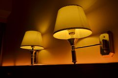Orange bedside lamp Royalty Free Stock Photo