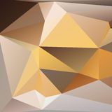 Orange and beige abstract polygonal background Royalty Free Stock Photography