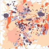 Orange beige grey ink splashes background square Royalty Free Stock Image
