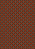 Orange and beige rhombuses on black background Royalty Free Stock Photo