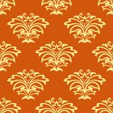 Orange and beige seamless pattern Stock Photography