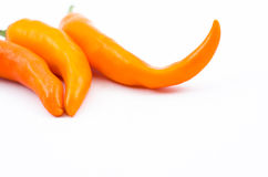 Orange Bell pepper. Isolated fropm white background Royalty Free Stock Photos