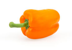 Orange bell pepper isolated on white Royalty Free Stock Photos