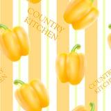 Orange bell pepper Stock Photos