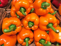 Orange bell pepper in stack Royalty Free Stock Photo